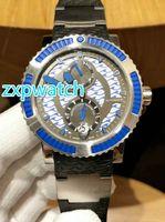 Новые поступления автоматические часы из нержавеющей стали стеклянный корпус назад каучуковый ремешок Водонепроницаемость мужские наручные часы роскошные часы бесплатную доставку