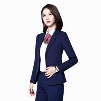 Büro-Frauen-Blazer-Klage-Größe 6xl eleganter Mantel-Schwarzes plus Größen-Mode-koreanische Frauen-Geschäfts-Anzüge Kadife Ceket Frauen-Mantel X60043