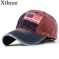 Xthree 100% Washed Cotton Baseball Caps Men Airforce Hat Cap...