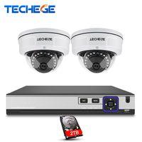 Sistema de CCTV 4CH 4k POE NVR 4MP POE Câmera IP Vandalproof IR Night Vision Detecção de Movimento Sistema de Vigilância de Segurança