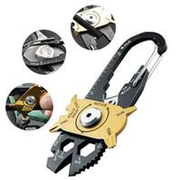 Gadget Portatile EDC Mini Utility Fixr 20 in 1 Multi Tool Portachiavi campeggio all'aperto Strumenti Moschettone per la sopravvivenza in arrampicata