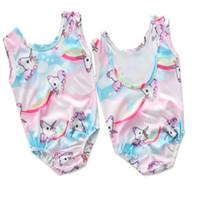 Baby girls unicorn Swimwear outfits children print top+ short...