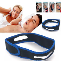 Alta qualidade Anti Ronco Chin Strap Neoprene Pare de Ronco Queixo Cinto de Suporte Anti Apneia Jaw Solution Ferramentas de Cuidados Dormir