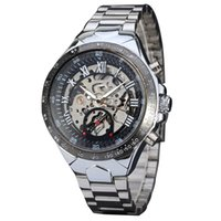 Men' s Luxury Steampunk Hollow Stainless Steel Automatic...