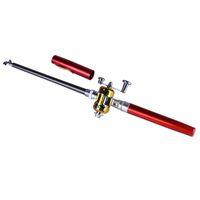 Hot rod telescópica tambor portátil vara de pesca conjunto de artes de pesca conjunto de caneta