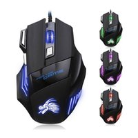 New Professional Wired Gaming Mouse 5500 DPI 7 Buttons LED O...