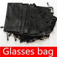 أكياس النظارات الترويجية الناعمة للماء منقوشة القماش نظارات كيس نظارات الحقيبة أسود اللون 17.5 * 9.3 سنتيمتر موك = 20 قطع