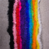 2meters /pc Length Fluffy Feather Boa Christmas Decor Marabou Feather Boa Plumes For New year Decoration Turkey Feather