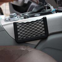 15 * teléfono de bolsillo Pilas 8cm de almacenamiento de coches Net Box bolsa de almacenamiento automático móvil de bolsillo bolsa de red en rack Colocación Organizador ccsme