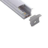 100 X 2M fixe / lot 6000 série profilé en aluminium pour l'aluminium de style T LED canal de logement pour les feux encastrés muraux