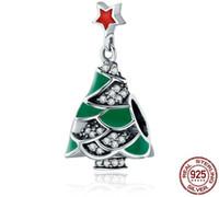 925 سحر شجرة عيد الميلاد stering فضة 'أساور ، diy مجوهرات عموم نمط الخرز أساور كهدايا