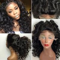 Güzellik Afro Kinky Kıvırcık Sentetik Saç Tutkalsız Dantel Ön Peruk Siyah Kadınlar Için ısıya dayanıklı # 1 14-28 '' 150% yoğunluk FZP77