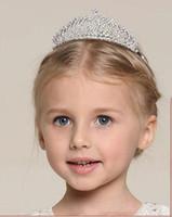 Vendita calda Vintage Crystal Tiara Accessori per capelli da sposa per Wedding Quinceanera Tiaras e corone Pageant Strass Corona Crown Hairbands