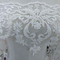 pizzo bianco rayon di alta qualità con il vestito tallone ricami in pizzo da sposa in pizzo nastro cucito Accessori M010