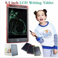 Hot 8,5-Zoll-LCD-Schreib-Tablet-Memo-Zeichnungsbrett Tafel Handwriting-Pads mit verbessertem Stift für Kinderbüro ein Hintern elektronisch 5 Farbe