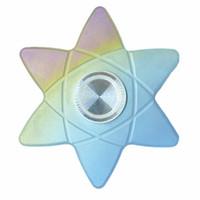 Fidget Spinner FIGITY Giocattolo per bambini Adulti Rainbow Polaris Spin Metallo Titanium Shinning Cute EDC R888 Cuscinetto ad alta velocità Slient