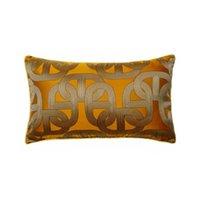 Moderne weiche orange Kette Elipse Waist-Kissenbezug 30x50cm Home Living Deco Sofa Auto Stuhl Lendenwirbelwohnkissenbezug Verkauf von Stück