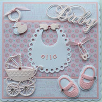 Sale Decorative Baby Shower Stencils Die Cut Small Contours ...