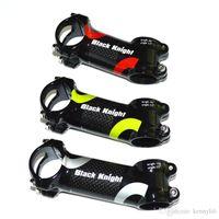 Liga de alumínio cavaleiro preto e estrada de carbono bicicleta haste mtb bicicleta parte 31.8 * 60/70/80/90/100/110 / 120mm ângulo 6 e 17 graus