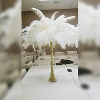 Wholasale elegante piume di struzzo bianco 10-12 pollici per le forniture di festa di nozze artigianali piume decorazione carnevale di Carnevale