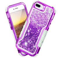 For Iphone 8 plus Case Luxury Glitter Liquid Quicksand Float...