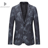 Erkek Takım Elbise Blazers Zeeshant Erkekler Takım Elbise Ceket Slim Fit Düğün Damat Blazer Masculino Americanas Hombre Iş Rahat Stil Artı 4XL 5XL