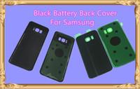 Samsung Galaxy S6 S7 Kenar S8 S6 Kenar Artı Not 5 8 OEM Pil Kapı Geri Konut Kapak Cam Kapak Yapıştırıcı Sticker ile Siyah Renk