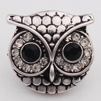 18mm NOOSA Ginger Snap Jewelry Owl Style Crystal Interchange...