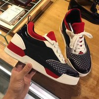 2018 Name Brand Casual Shoe Man Red Bottom Sneaker Flat New ...