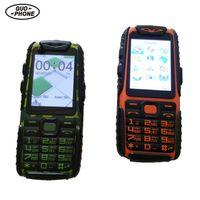 Venta barata Guophone A6 Power Bank 9800mAh teléfono móvil a prueba de choques a prueba de agua larga linterna Standby con teclado ruso murciano