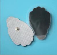 400 pz tessuto mano palmo forma di ricambio terapia elettrodi elettrodi pastiglie pad per elettrodo dieci elettrostimolatori TENS unità mono-polare di dhl