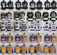 2018 Hockey LA Los Angeles Kings Jerseys 8 Drew Doughty 11 Anze Kopitar 32 Jonathan Quick Jeff Carter Marcel Dionne Luc Robitaille Gretzky
