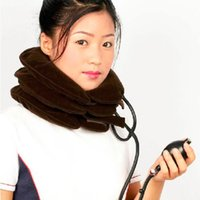 Cuello cervical dispositivo de tracción collar inflable equipo doméstico cuidado de la salud dispositivo de masaje cuidado de enfermería Gran Venta