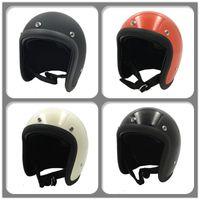 Motorfiets Open Gezicht Helm FRP FIBERGLASS 3/4 Retro Vintage Motor Scooter Street Moto Cross Casco Safe Protective Bike Fietshelm