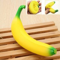 Squishy Banana 18 cm Squishy Amarelo Super Squeeze Squishies Simulação Rasa Kawaii Simulação de Frutas Pão Brinquedo Do Miúdo Brinquedo Descompressão