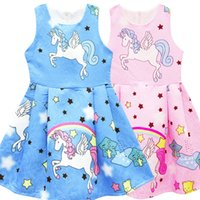 Fashion 2018 Kids Girls Clothing Kids Unicorn Dresses Sleeve...
