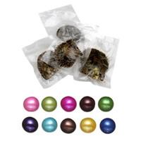 Love Wish Perle ostriche con perle in Akoya Oyster Round Pearl in Oyster 7-8 mm Gioielli fai da te 27 colori confezionati sottovuoto
