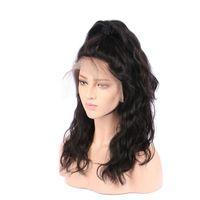 Парики фронта шнурка человеческих волос черные женщины бразильские девственные волосы 130 плотность естественный цвет волнистые парики девственницы 10-30inch Glueless полный парик шнурка