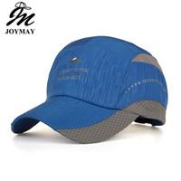 Erkekler ve Kadınlar için Joymay Caps Bahar Yaz Tarzı Süper Hafif Hızlı Kuruyan Baskı Spor Açık Beyzbol Şapkası 5 Renkler Mix Sipariş B528