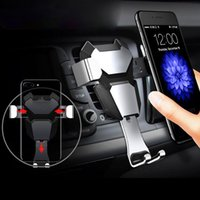 Gravity reaction Car Mobile phone holder Clip type air vent ...