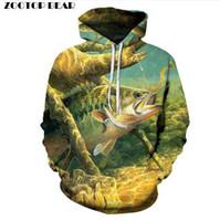 Heißer Verkauf Fisch Hoodies 3D Hoodies Sweatshirts Männer 3d Pullover Lustige Print Tracksutis Casual Mäntel Jungen Streetwear Männlich Outwear Neu