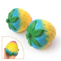 Rainbow Strawberry Jumbo Squishies Large Slow Rising Phone S...