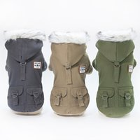 5 Size Pet Dog Coat Winter Warm Small Dog Clothes For Chihua...