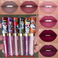 CmaaDu Magic Non-stick Matte Metal Pearlescent Skull Lip Gloss Sexy Waterproof Liquid Velvet Lip Gloss