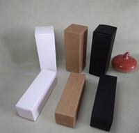 31 * 31 * 90mm Boîte de papier vierge Boîtes à cadeaux cosmétiques bricolage pour la crème faciale Emulsion vaporisateur Emballage de tubes de valve - Noir Blanc Kraft en option