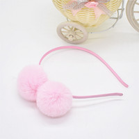 1pcs Headpieces sweet girls hairband cute rabbit ears plush ...