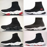 2018 Zapatos de diseñador Speed ​​Trainer Black Red Mr Porter Triple Black Flat Calcetines de moda Botas Zapatilla Speed ​​Trainer Runner