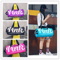 Large PINK Letter Duffel Bags Fashion organizer Travel bag W...
