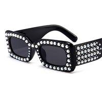 Las últimas capítulo cristalino de la perla de la manera Gafas de sol de la señora Fashion Lentes de sol de las mujeres Gafas de Sol UV400 W2