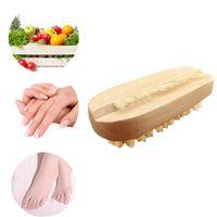 Высокое качество деревянная щетка для ногтей для маникюра педикюр очистки щетиной с обеих сторон акриловые ногтей кисти